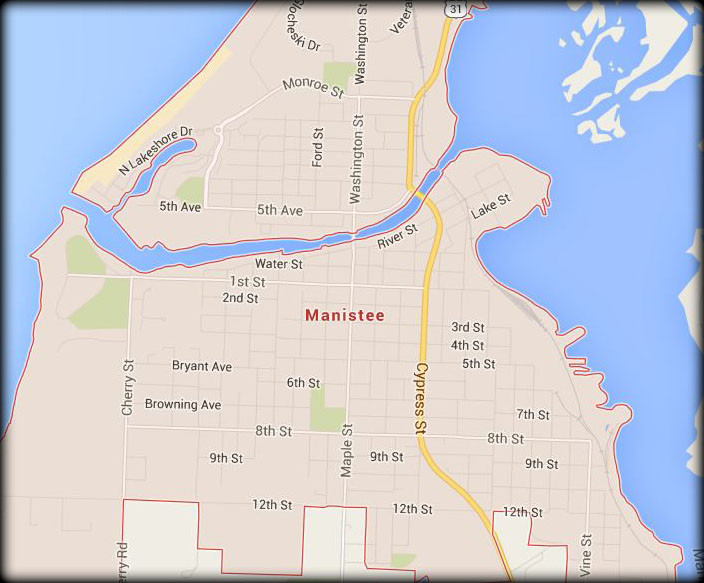 Map of Our Manistee Service Area